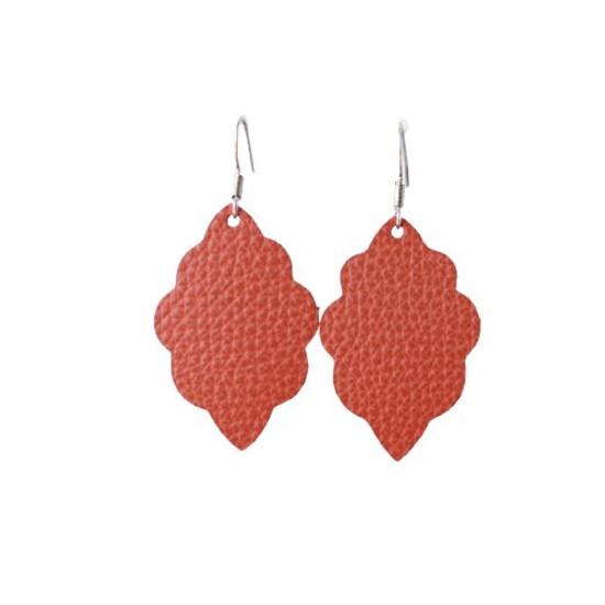 Cinnamon Mini Leather Earring