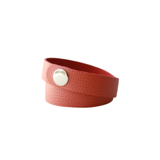 Cinnamon Leather Wrap Bracelet