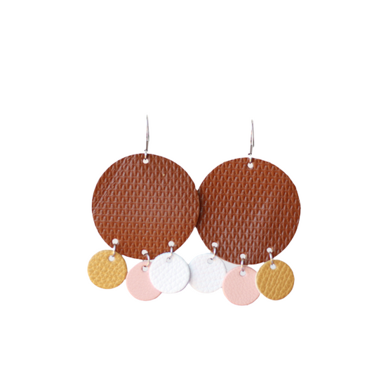 Fall Halo Leather Earring