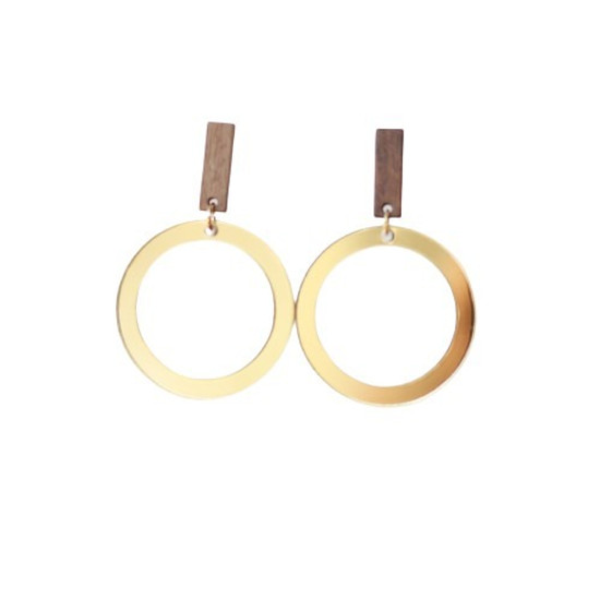 Gold Mirrored Acrylic Halo Earring