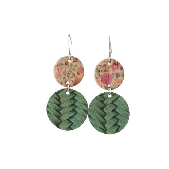 Autumn Floral Drop Leather Earring