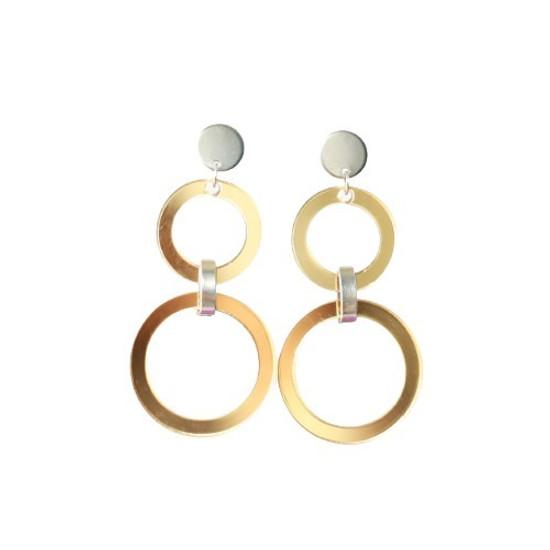 Gold Mirrored Acrylic Drop Earring