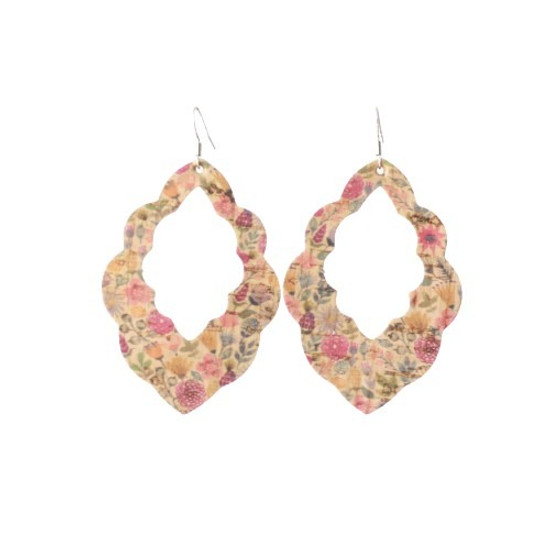 Autumn Floral Cut-Out Leather Earrings
