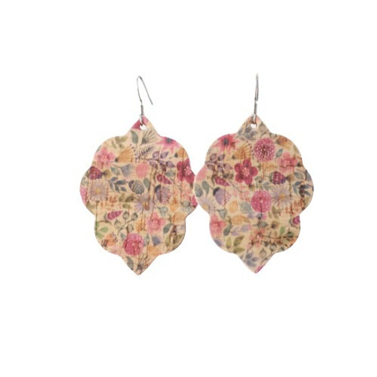 Autumn Floral Small Leather Earring