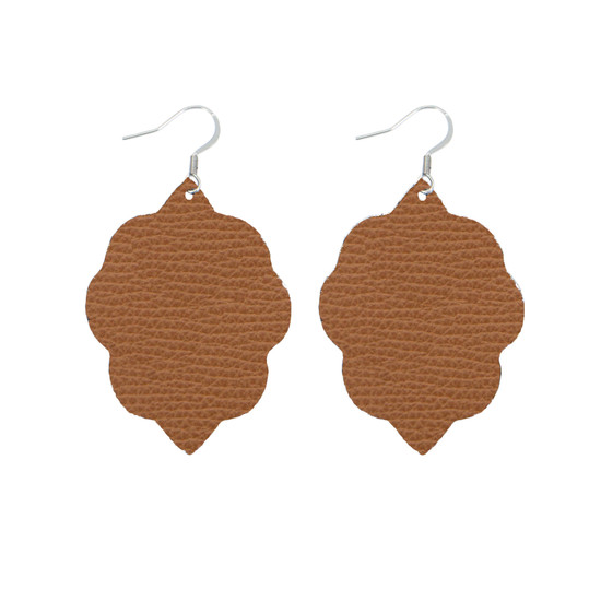 Tan Small Leather Earring
