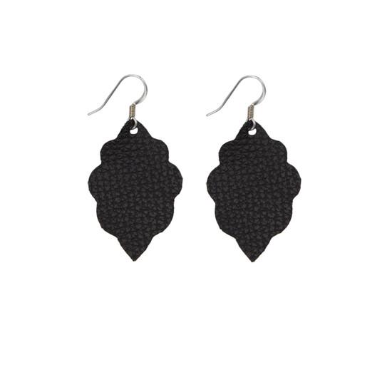 Black Mini Leather Earring