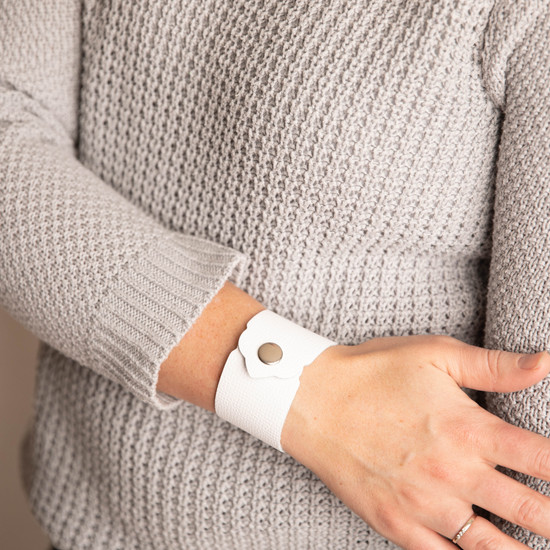 White Leather Cuff