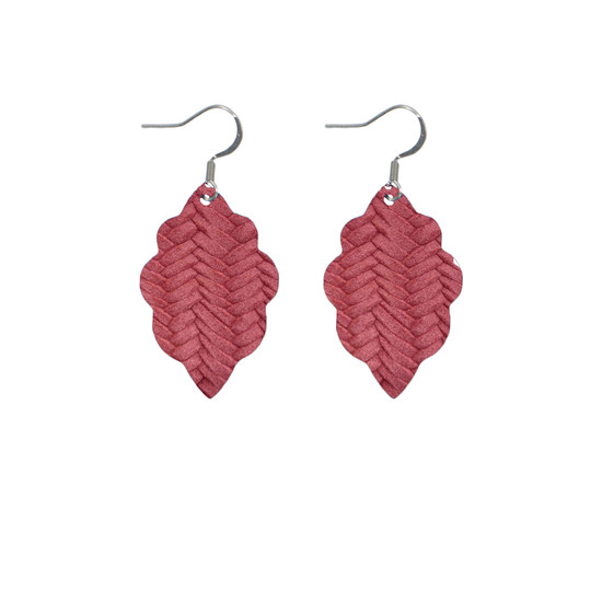 Begonia Mini Leather Earring