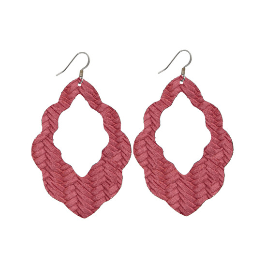 Begonia Cut-Out Leather Earrings