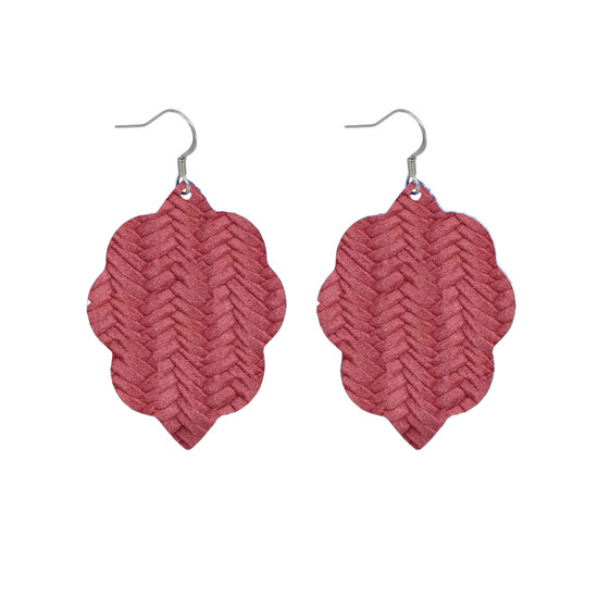 Begonia Small Leather Earring