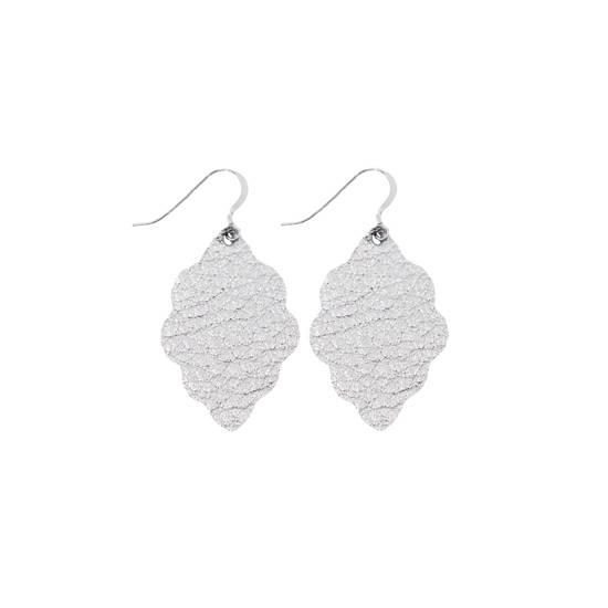 Silver Signature Leather Earring Set