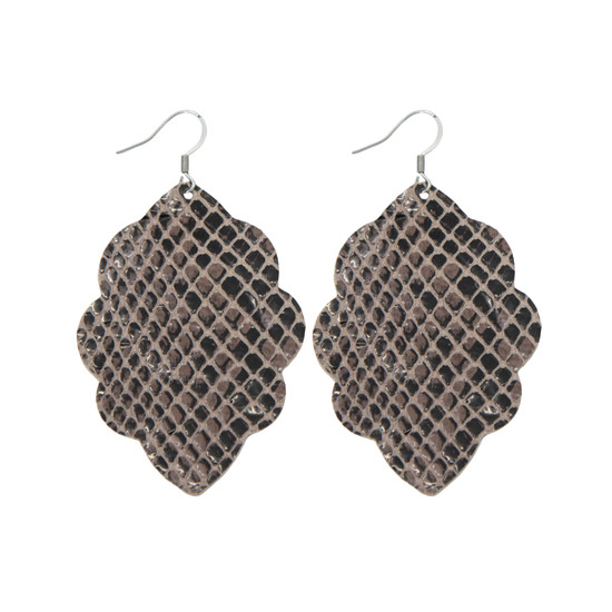 Desert Reptile Large Solid Leather Earring