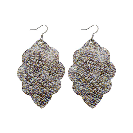 Winter Lux Large Solid Leather Earring