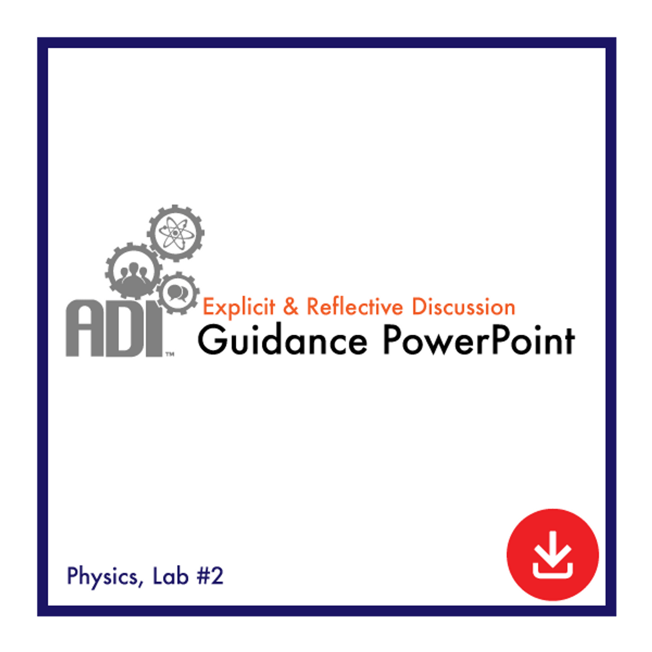 ADI Guidance Powerpoint: Physics Lab 2, Acceleration due to Gravity