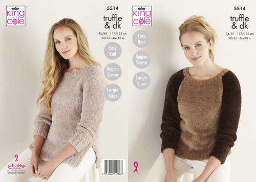 King Cole Truffle /& DK Knitting Pattern Easy Knit Cushions /& Lap Blanket 5518
