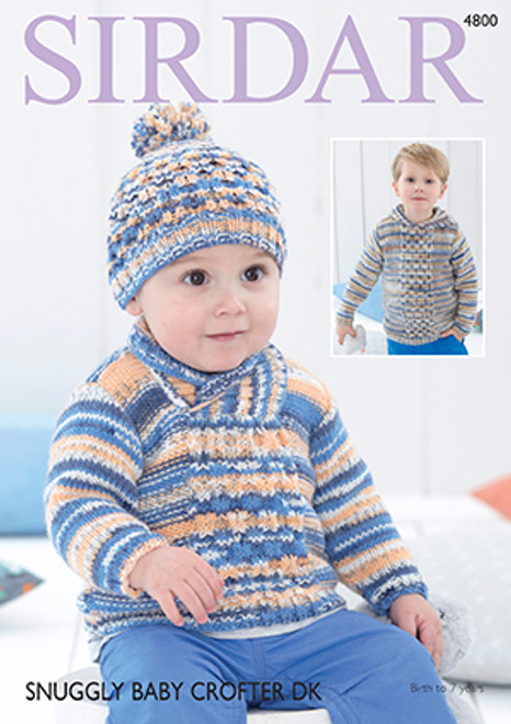 aa3676293 Sirdar 4800 Snuggly Baby Crofter DK Sweater & Hat Pattern - Knitting ...