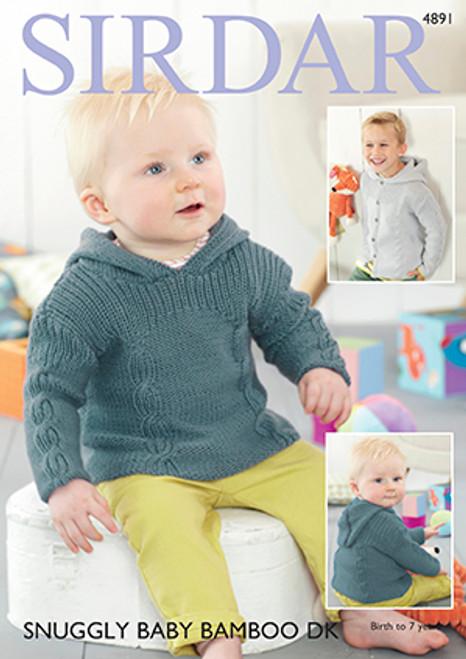 e6ca3957b4ae Sirdar 4891 Snuggly Baby Bamboo DK Sweater   Jacket Pattern ...