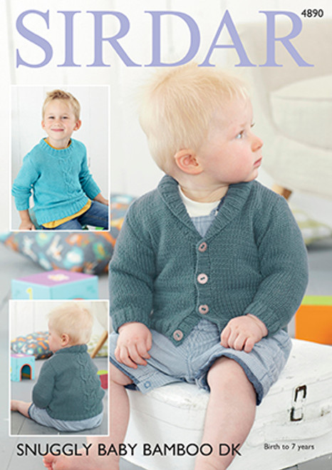 d5af07ae3df7 Sirdar 4784 Snuggly Baby Bamboo DK Sweater Pattern - Knitting Village