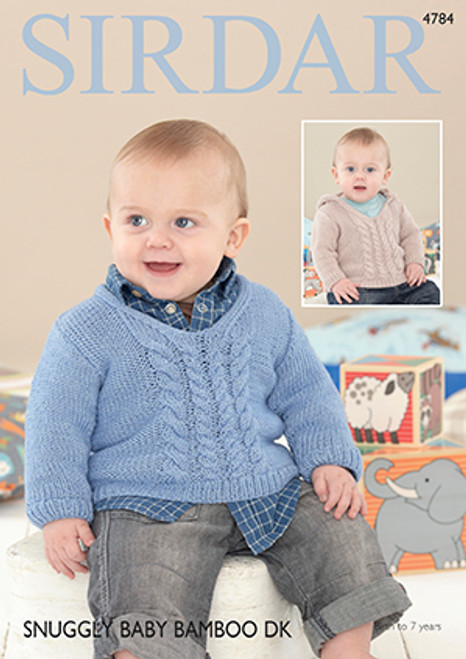 5fa852e0d Sirdar 4784 Snuggly Baby Bamboo DK Sweater Pattern