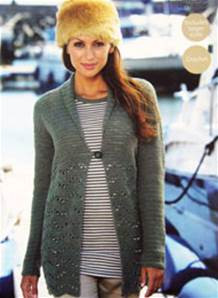 eb701803d63 Sirdar 9504 Country Style 4 ply Jacket Crochet Pattern - Knitting ...