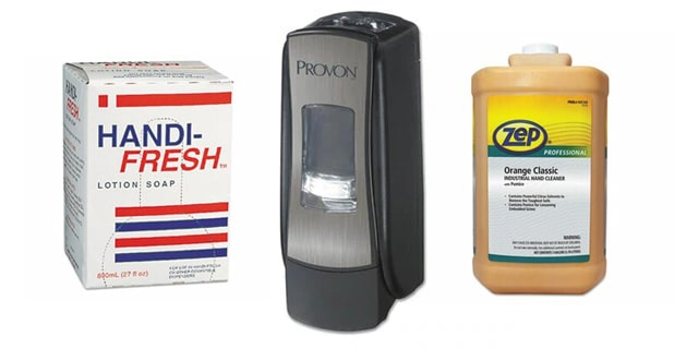 Hand Soaps, Hand Sanitizer & dispensers