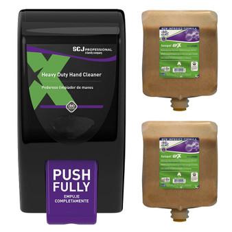 DEB GPF3LNA Solopol GFX Gritty Foam Soap Value Pak, 2 Refills & One Dispenser