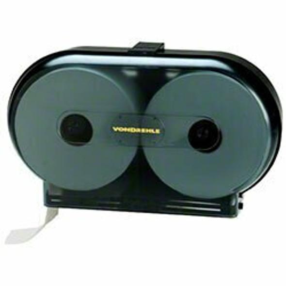 Von Drehle 9 Twin Jr. Jumbo Roll Tissue Dispenser -Black