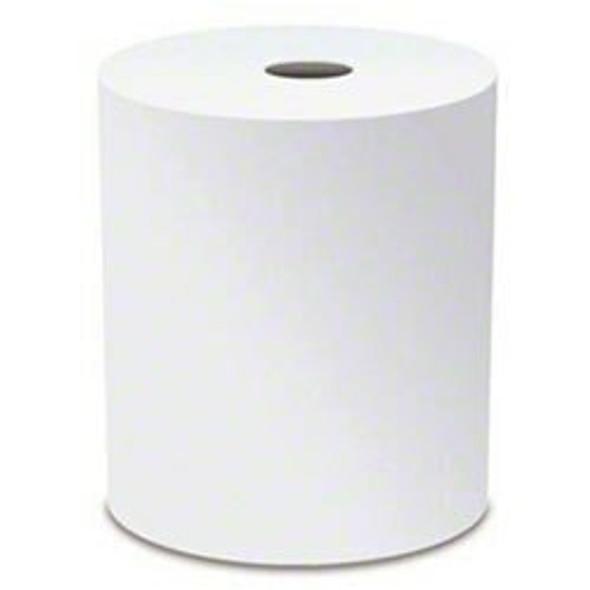 """Vondrehle 816T 10 Inch TAD White Hardwound Roll Towel 10""""x800' 6 Rls. Cs."""