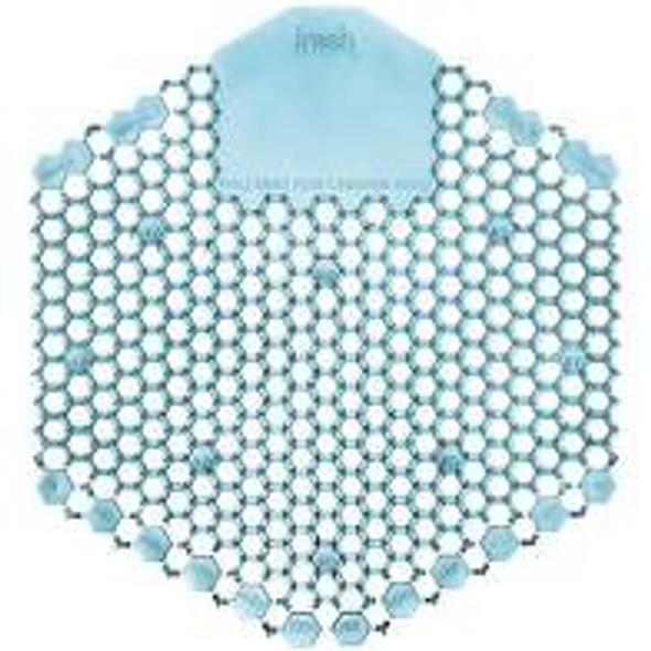 Wave 3D Urinal Screen, Blue, Ocean Mist Fragrance, 3WDS-F-010I060M-08-MC 10/Box, Sold 60/Case