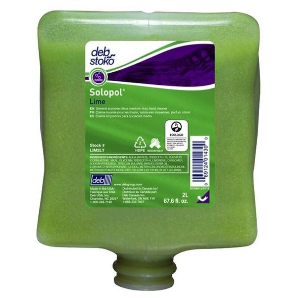 DEB LIM2LT Solopol® Medium Heavy Duty Lime 2L Cartridge Each