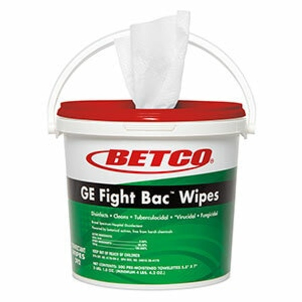 Betco 392F100 GE Fight Bac Disinfectant Wipes 1 Tub 500 Wipes