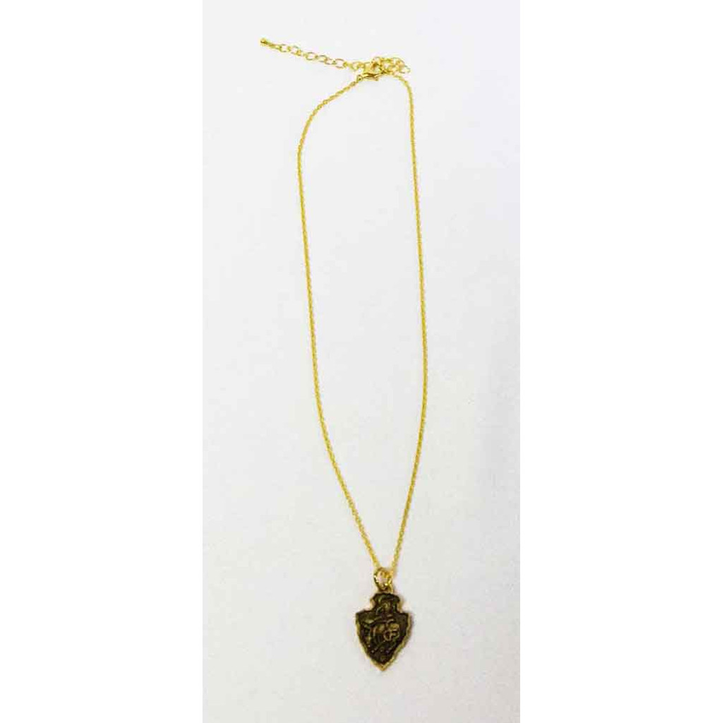 Gold CFD Arrowhead Necklace (05-012-0135)