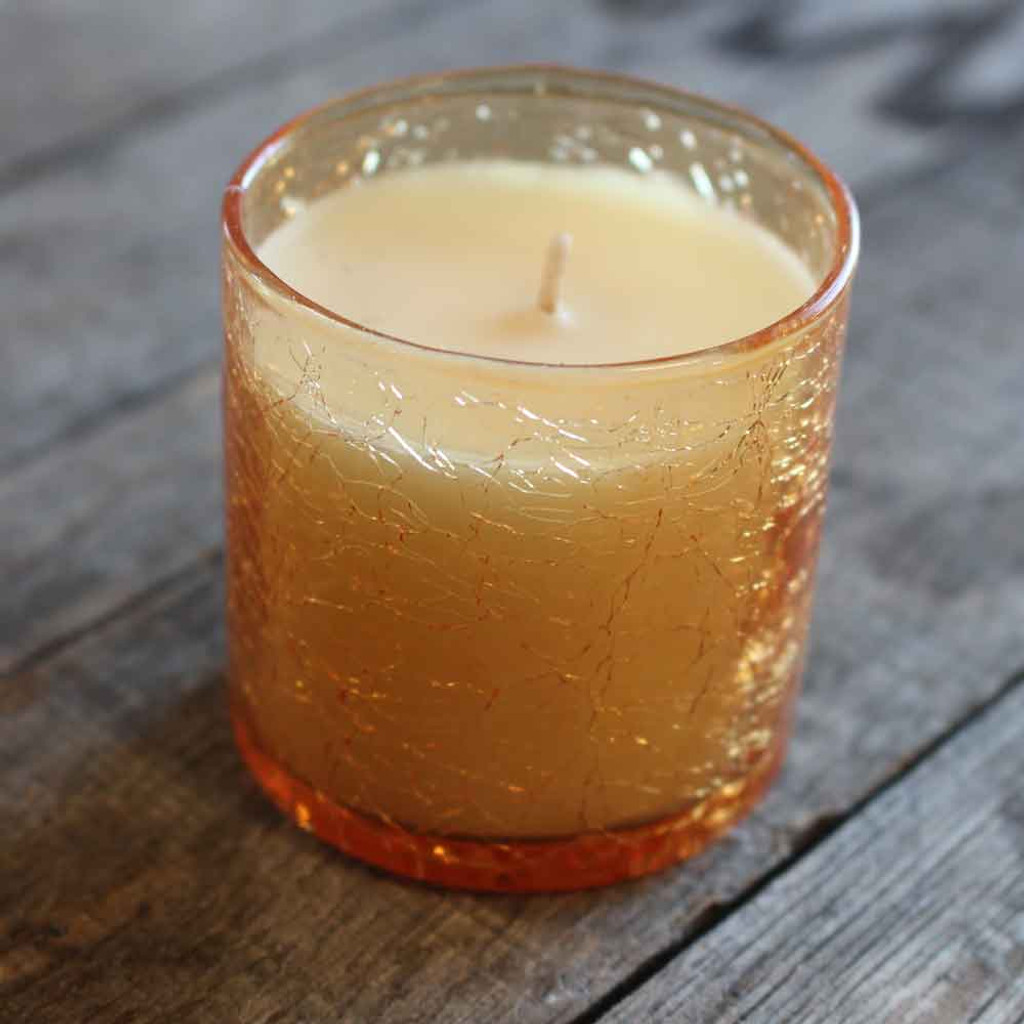Crackle Finish Candle (10-001-0069)
