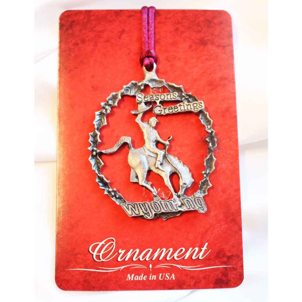 Wyoming Bucking Horse Christmas Ornament (10-009-9307)