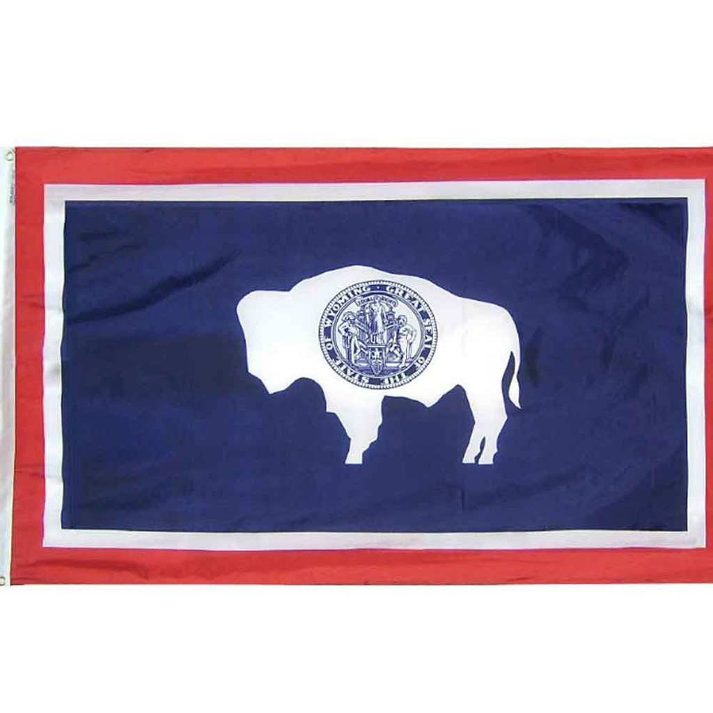Wyoming 3X5-ft Colonial Flag (12-005-0057)