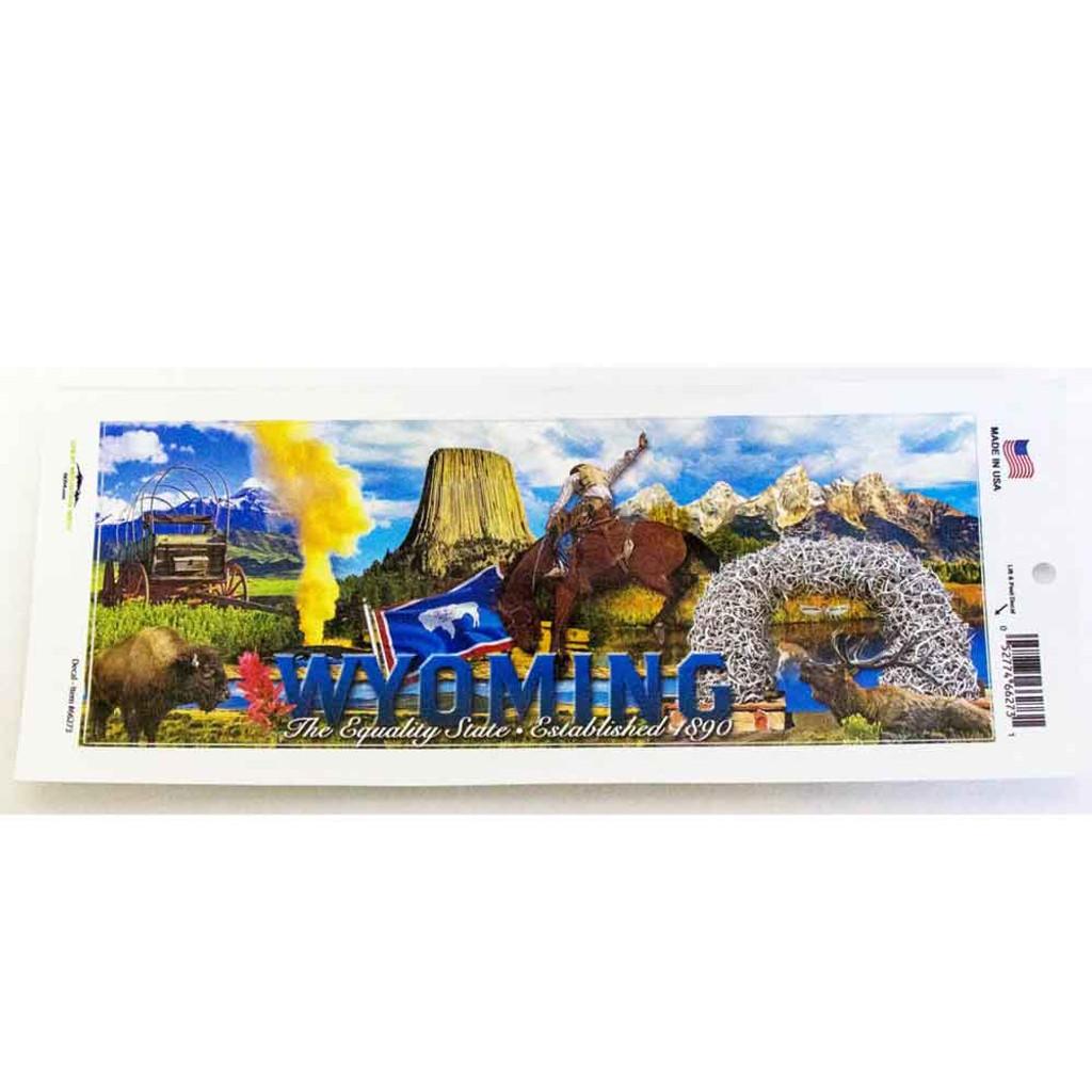 Wyoming Collage Bumper Sticker (12-006-0053)