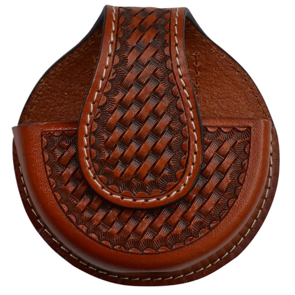 Natural Basket Weave Tooled Snuff Case