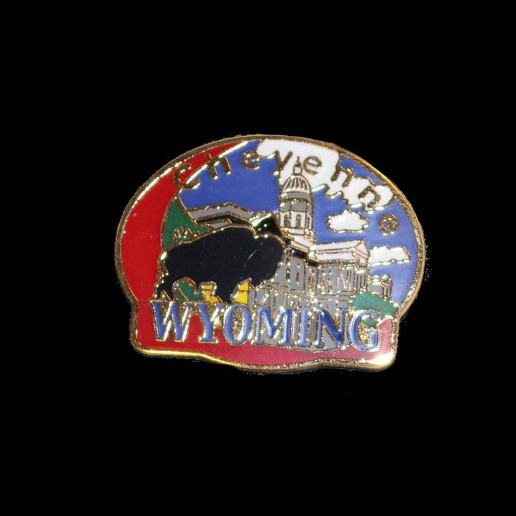 Cheyenne Oval Bison Capitol Pin