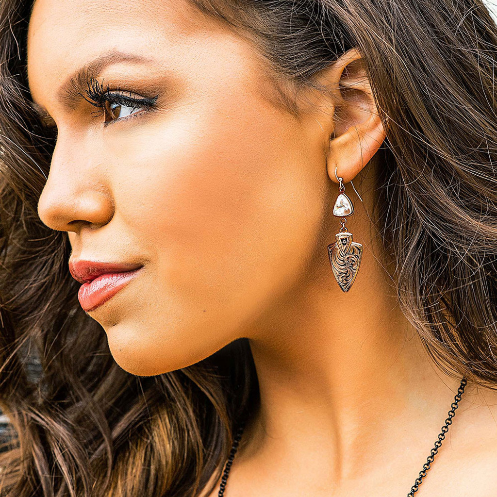 Brave Spirit Arrowhead Earrings