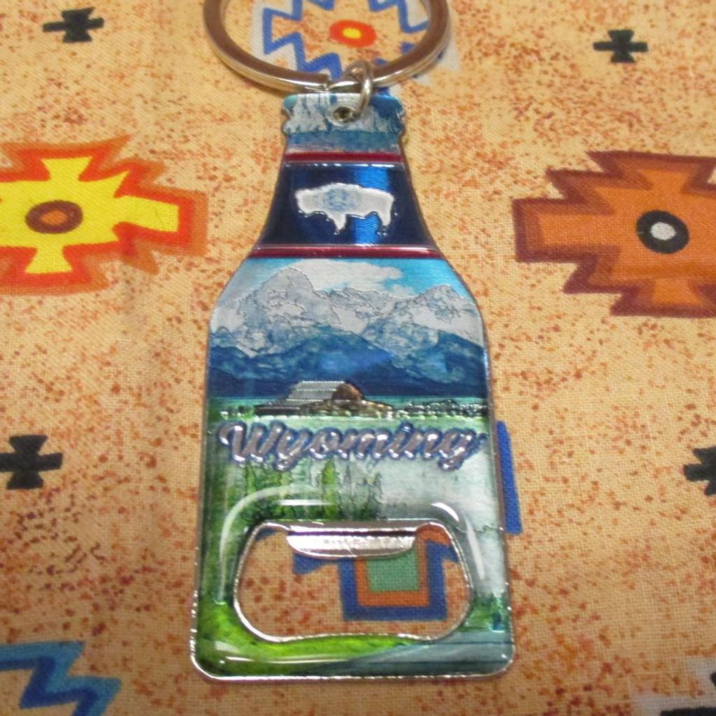 Wyoming Bottle- Bottle Opener Key Chain