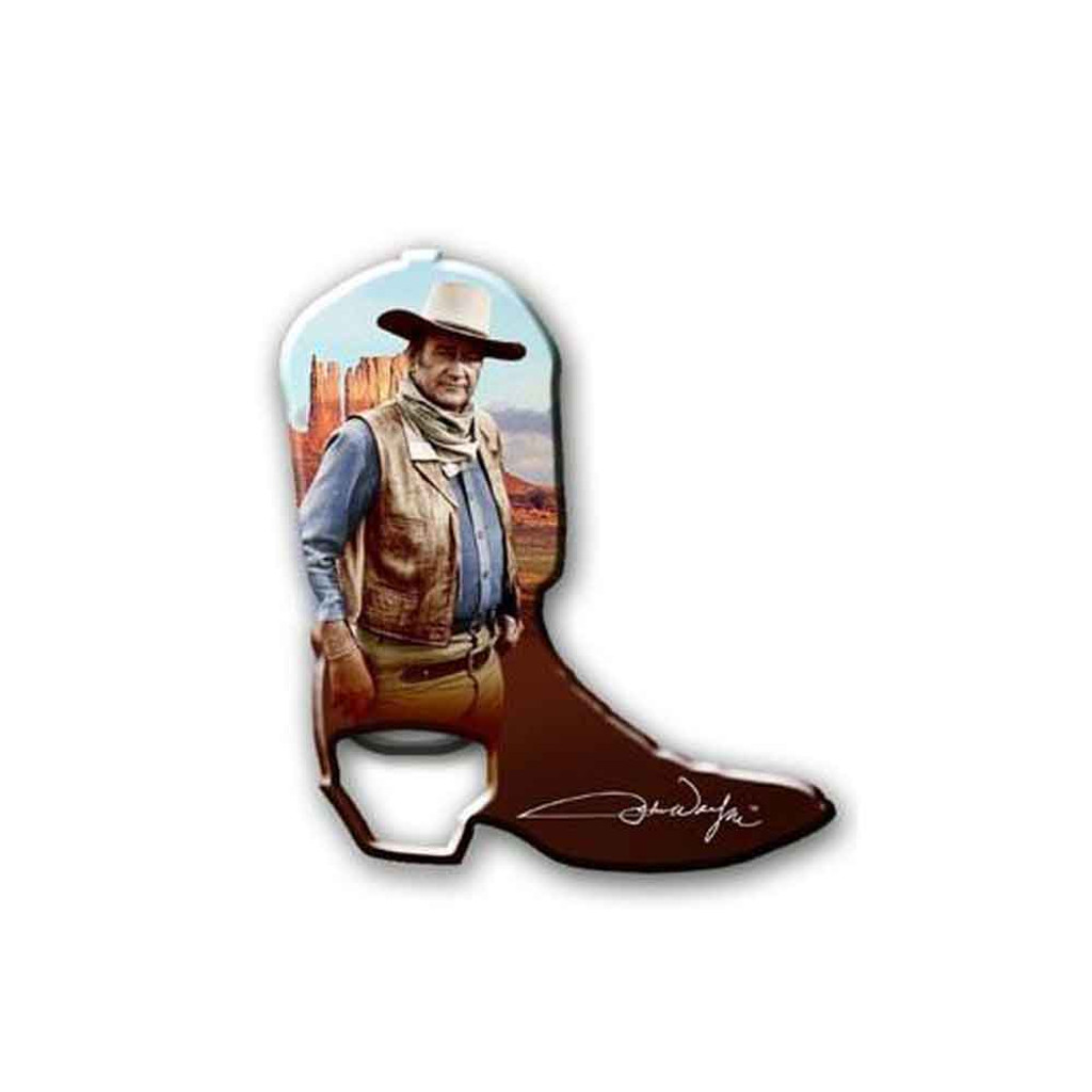 John Wayne Bottle Opener Boot Magnet