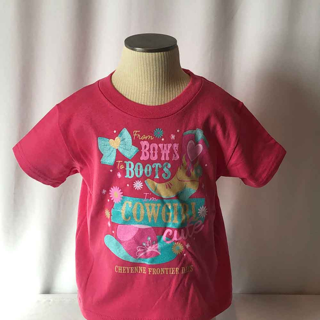 Toddler Cowgirl Cute Pink Tee