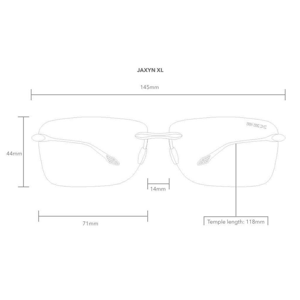 Jaxyn XL Black/Brown Bex Sunglasses