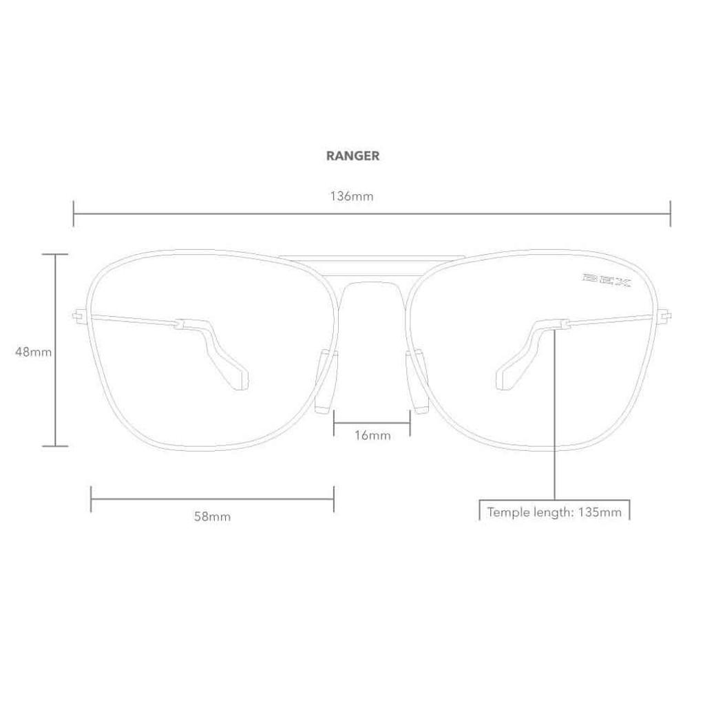 Ranger Burgundy/Gold Bex Sunglasses