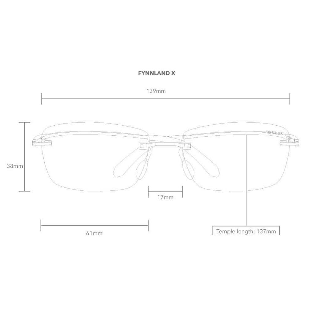 Fynnland X Black/Gray Bex Sunglasses