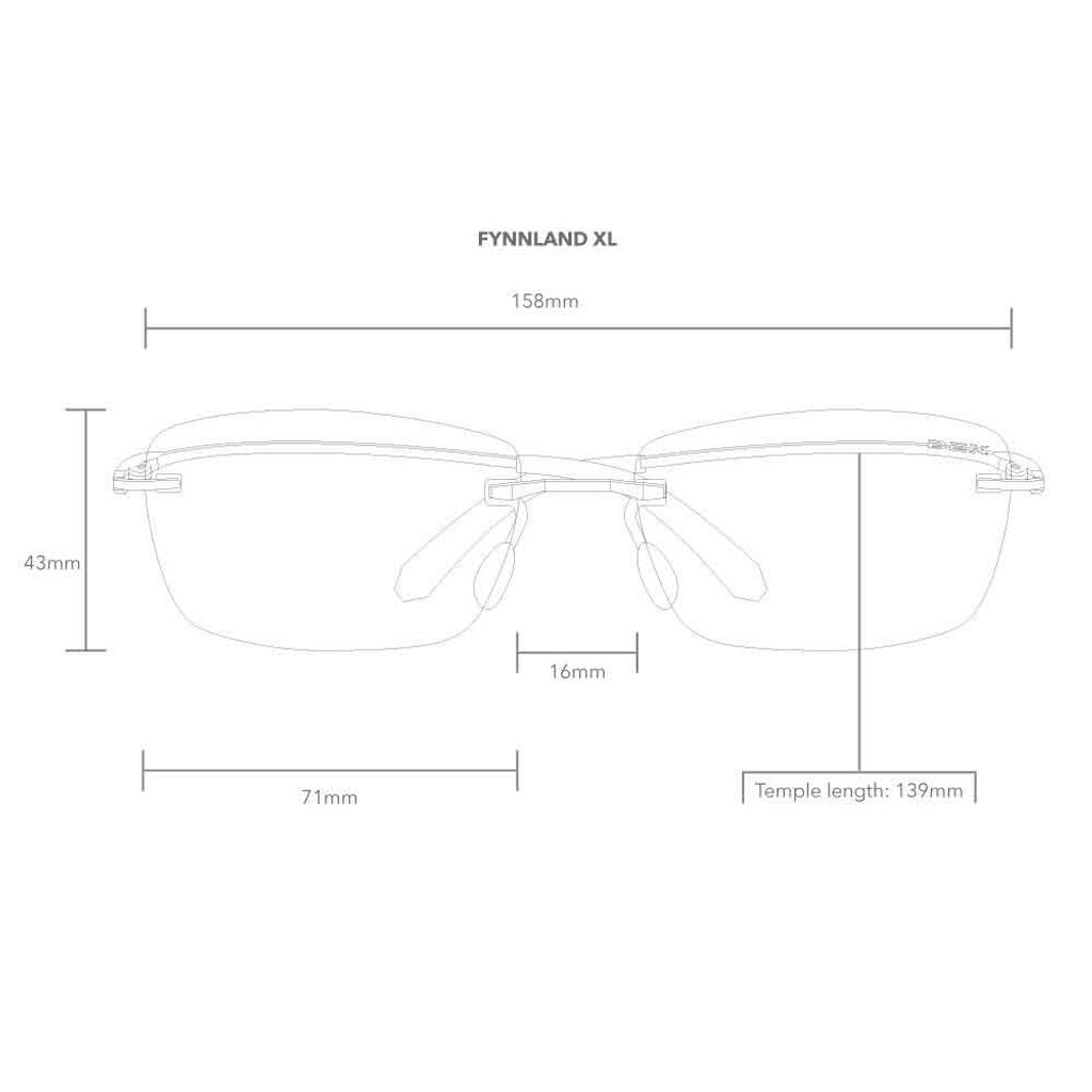 Fynnland XL Black/Gray Bex Sunglasses