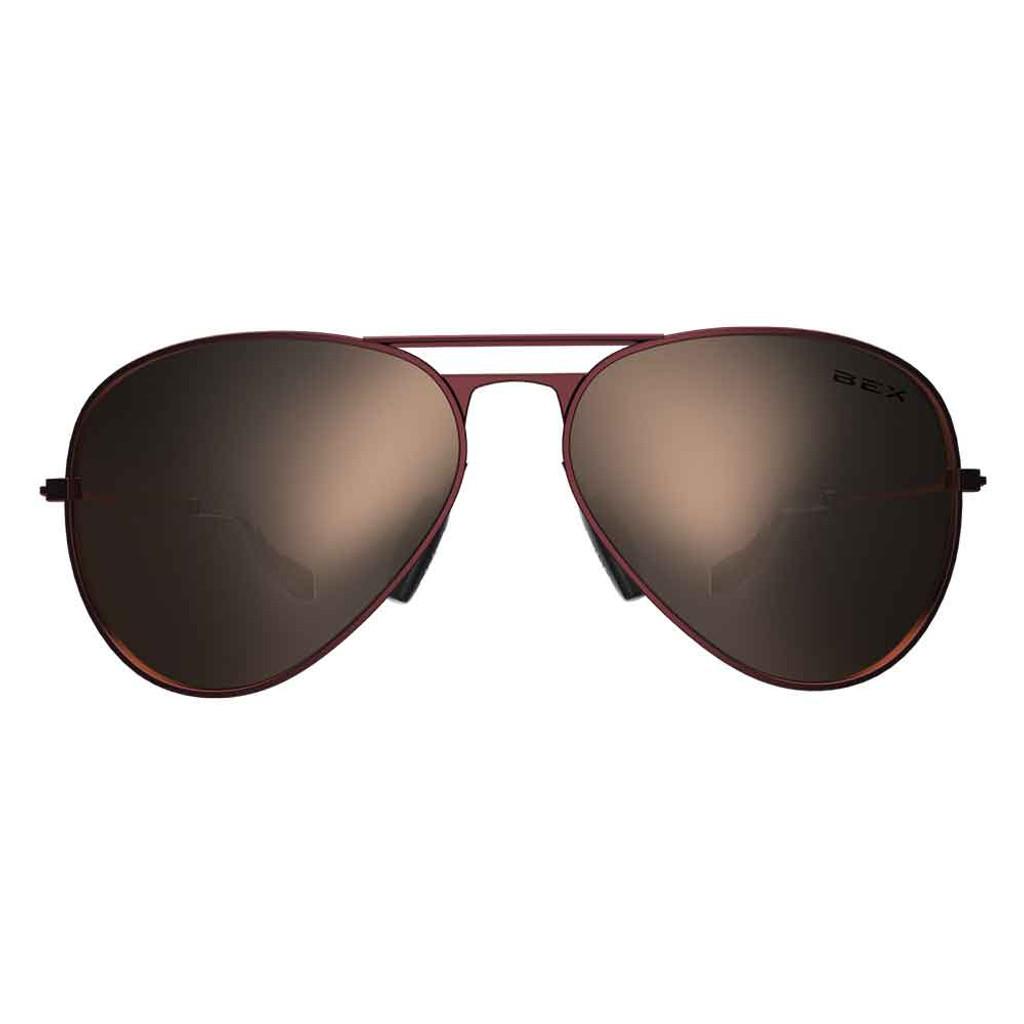 Wesley Burgundy/Gold Bex Sunglasses