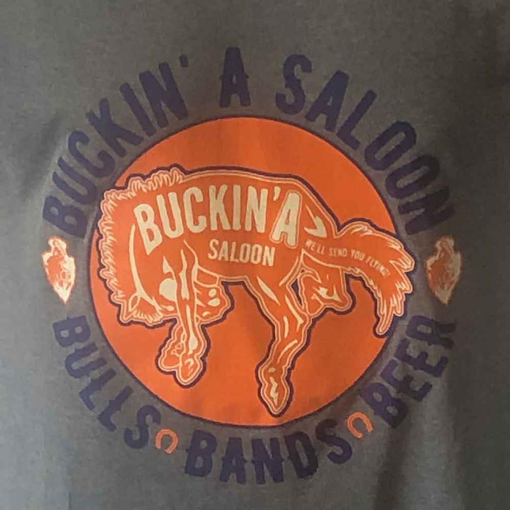 Bulls, Bands, Beers Charcoal CFD Buckin'A Tee