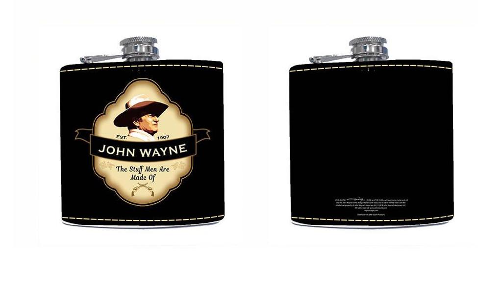 John Wayne the Stuff Men Are Made Of Flask