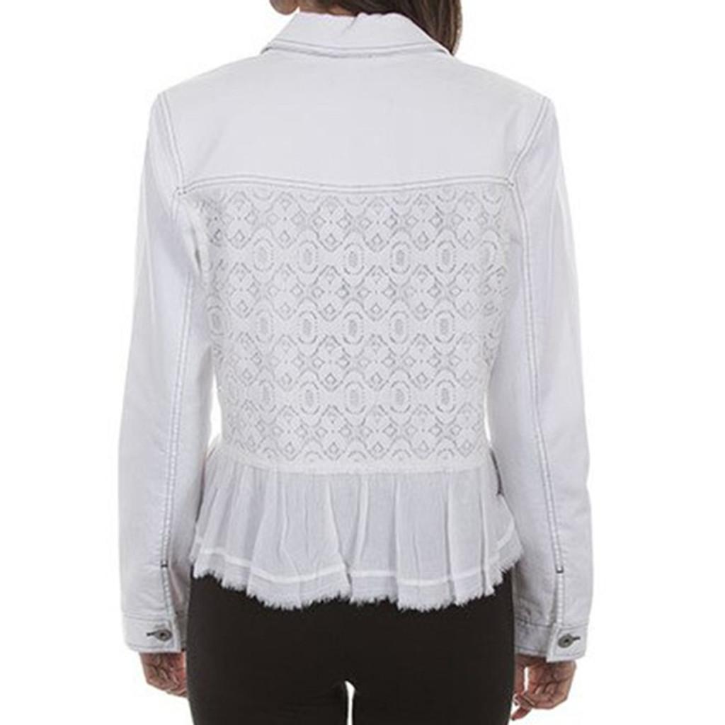 Denim & Lace White Jacket